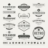 Fototapety Retro Vintage Insignias or Logotypes set vector design elements