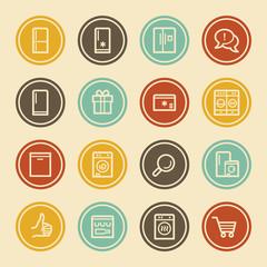 Kitchen Appliances , Color Circle Buttons
