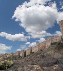 Alcazaba castle on Gibralfaro mountain. Malaga,Spain