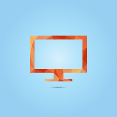 Monitor  icon, vector illustration. Flat design