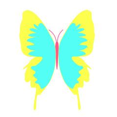 黄色い羽の蝶のイラス