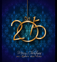 2015 Christmas Greeting Card for happy Holiday