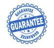 guarantee stamp on white background