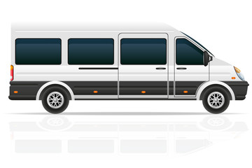 minio bus for the carriage of passengers vector illustration