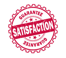 satisfaction stamp on white background