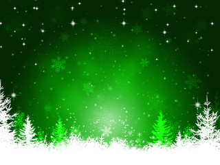 Winter Green Christmas Background