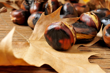 roasted chestnuts and autumn leaves