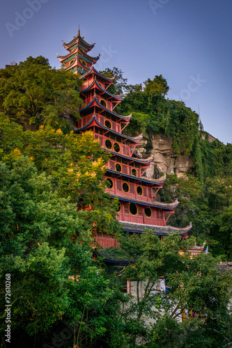 Papiers peints Sauvage Shibaozhai pagoda