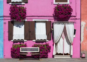 Front of the house on the island of Burano