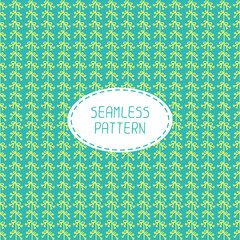 Vector seamless pattern of hand drawn flowers. Doodle background