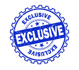 exclusive stamp on white background