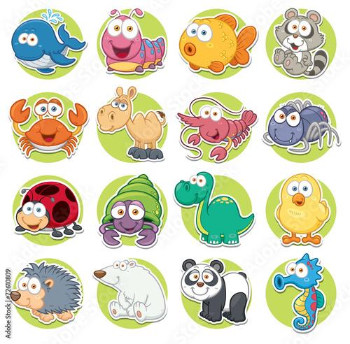 Vector illustration of Animals set Cartoon - 72610809