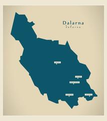Modern Map - Dalarna SE