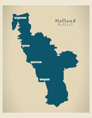 Modern Map - Halland SE