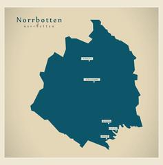 Modern Map - Norrbotten SE