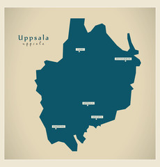 Modern Map - Uppsala SE
