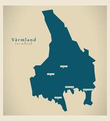 Modern Map - Värmland SE