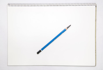 White Note Book and pencil