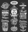 Vintage Happy Mothers Day Typographical Labels Set On Chalkboard