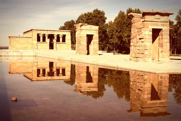 Madrid Temple of Debod - cross processed color tone