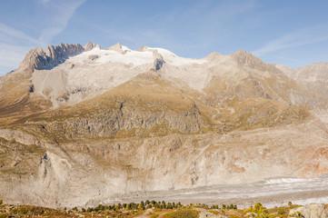 Riederalp, Moosfluh, Bergstation, Fusshörner, Alpen, Schweiz