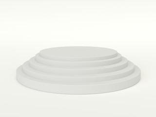 White posium - Pedestal