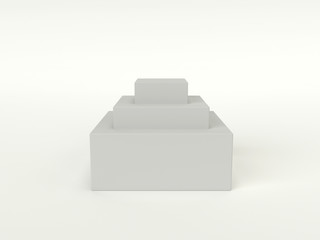 White square Podium
