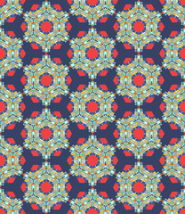 Abstract colorful  kaleidoscopic seamless background