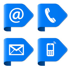 Contact Us - Email, Phone, Envelope, Mobile SET 2