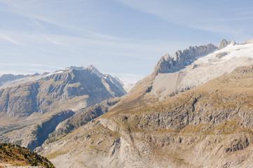 Riederalp, Riederfurka, Walliser Berge, Fusshörner, Schweiz