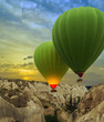 Hot air balloons sunset, Cappadocia, Turkey - 72613488