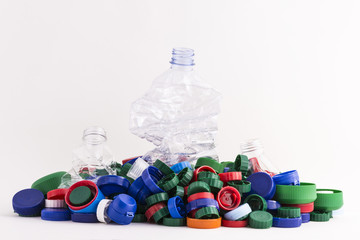 plastic plugs and three bottles
