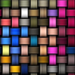 Colorful abstract intertwined seamless background illustration.