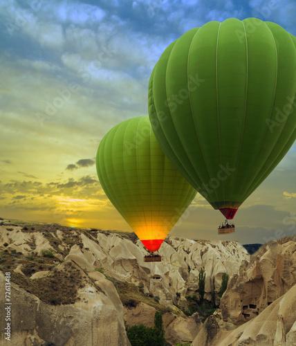 Hot air balloons sunset, Cappadocia, Turkey - 72613488