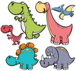 Vector illustration of Dinosaurs cartoon characters - 72613624