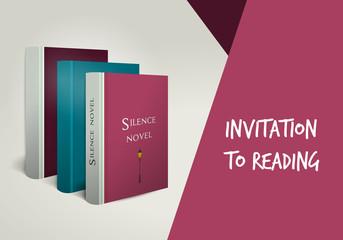 Invitation to reading card.