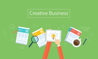Vector creative  business idea background