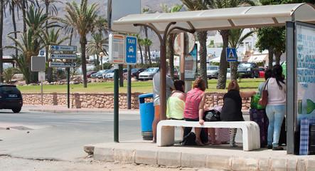 Bus Stop Mojaca Spain