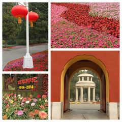 group of images from the  Beijing  Zhongshan Park (Sun Yat-sen)