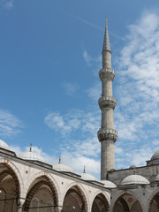 Minaret of Sultan Ahmed Mosque (Blue Mosque), Istanbul, Turkey