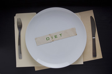 Plate with the message Diet