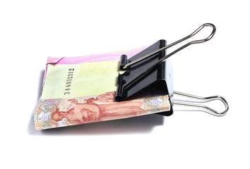 Ukrainian hryvnia clerical clamp that clamped