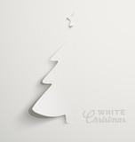 White Christmas, minimal Christmas card