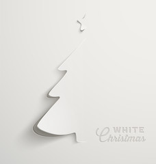White Christmas, minimal Christmas card