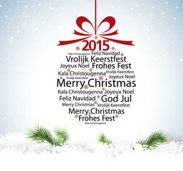 Christmas ball typography