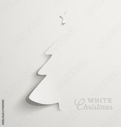 Fototapeta White Christmas, minimal Christmas card
