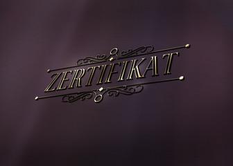 Zerzifikat - Ornament - Gold - D
