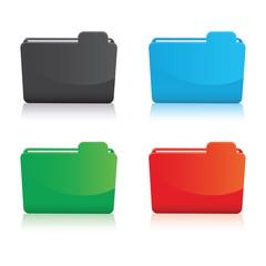 set of colourful folder