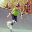 Little girl on roller skates - 72616845