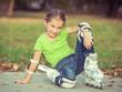 Little girl on roller skates - 72616879